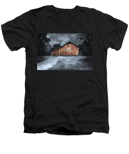Night Time Barn Men's V-Neck T-Shirt