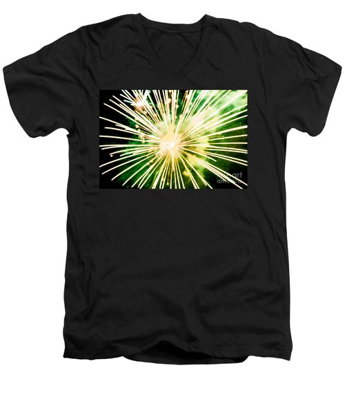 Men's V-Neck T-Shirt featuring the photograph Kaboom by Suzanne Luft