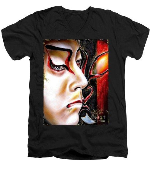 Kabuki Three Men's V-Neck T-Shirt