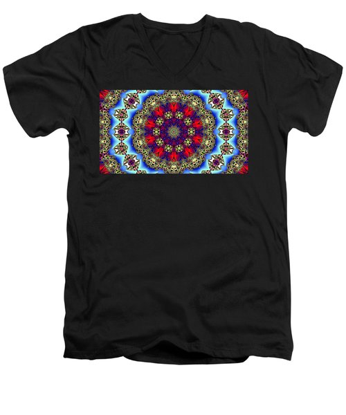 Kaleidoscope 51 Men's V-Neck T-Shirt