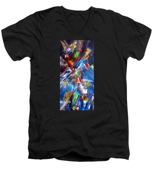 Kaleidoscope Men's V-Neck T-Shirt by Katia Aho