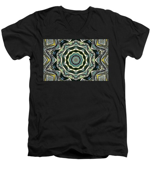 Men's V-Neck T-Shirt featuring the photograph Kaleidoscope by Oksana Semenchenko