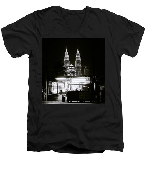 Kampung Baru Night Men's V-Neck T-Shirt