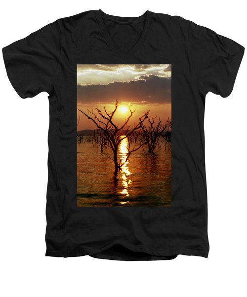 Kariba Sunset Men's V-Neck T-Shirt