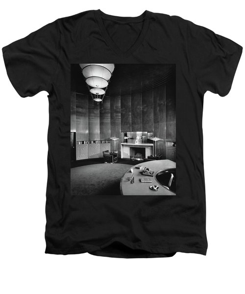Katharine Brush's Study Men's V-Neck T-Shirt