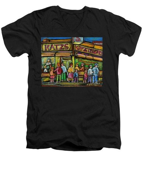 Katz's Deli Men's V-Neck T-Shirt