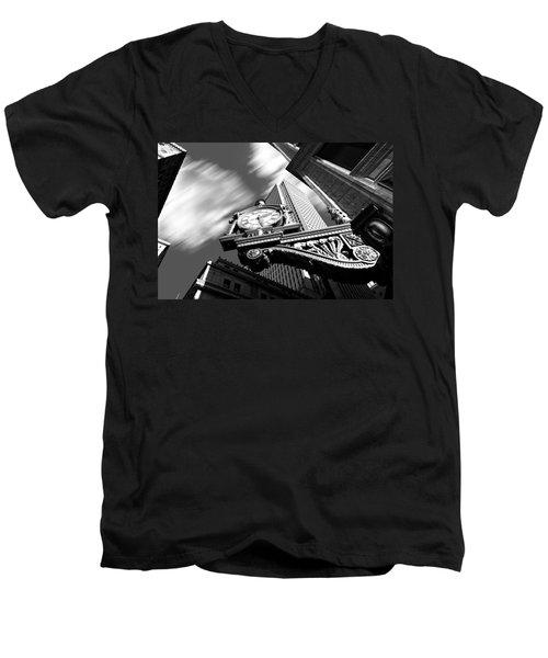 Kaufmann's Clock Men's V-Neck T-Shirt