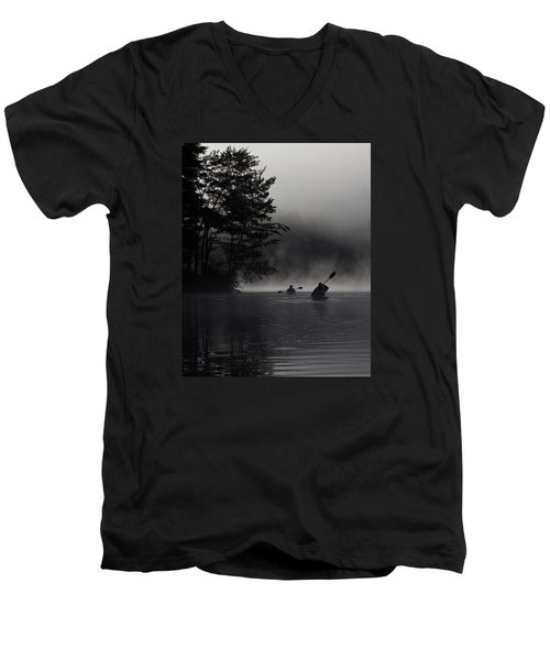 Kayaking In The Fog Men's V-Neck T-Shirt