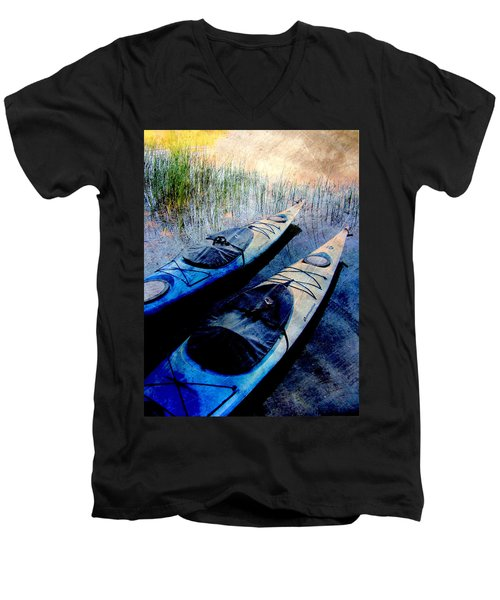 Kayaks Resting W Metal Men's V-Neck T-Shirt