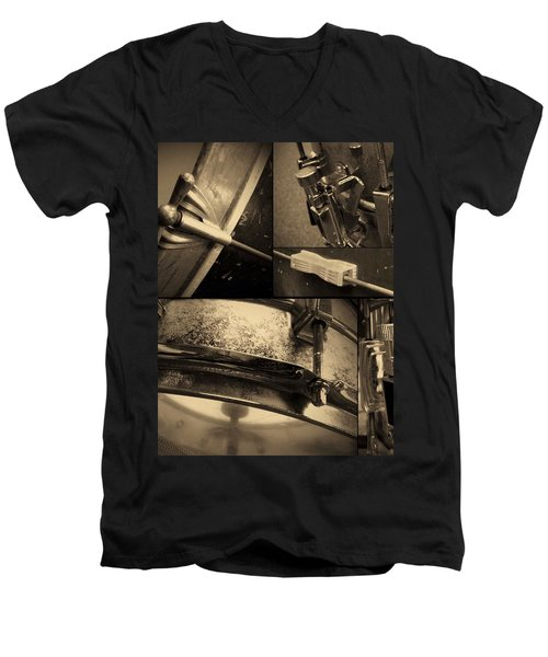 Keeping Time Men's V-Neck T-Shirt by Photographic Arts And Design Studio