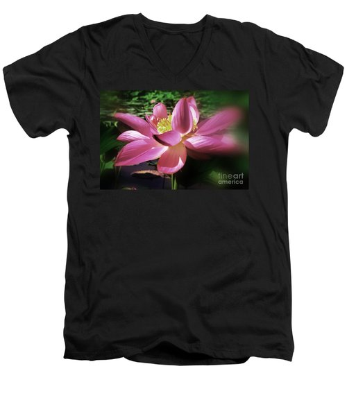 Men's V-Neck T-Shirt featuring the photograph Kenilworth Garden Three by John S