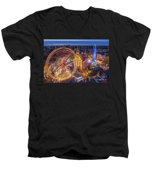 Kermis In Gouda Men's V-Neck T-Shirt