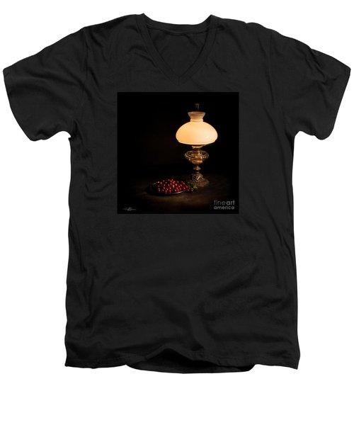 Kerosene Lamp Men's V-Neck T-Shirt
