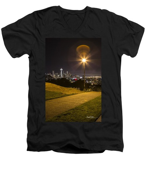 Kerry Park Seattle Men's V-Neck T-Shirt