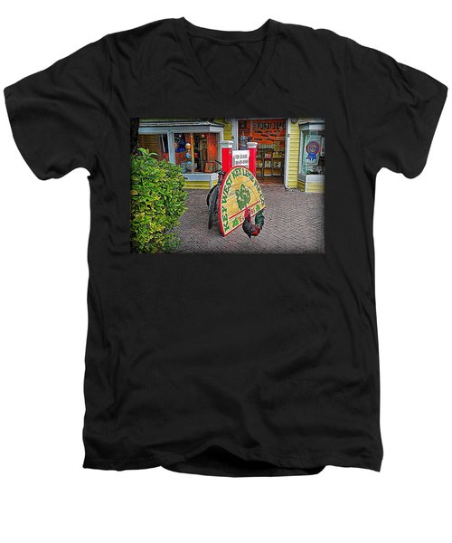 Key Lime Pie Co. Men's V-Neck T-Shirt by Hanny Heim
