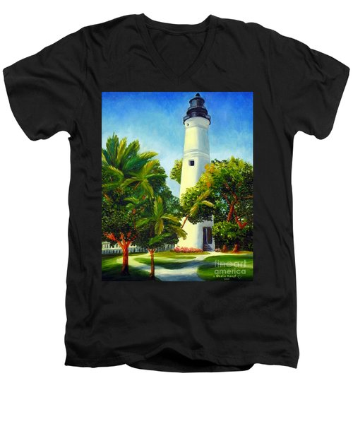 Key West Lighthouse Men's V-Neck T-Shirt
