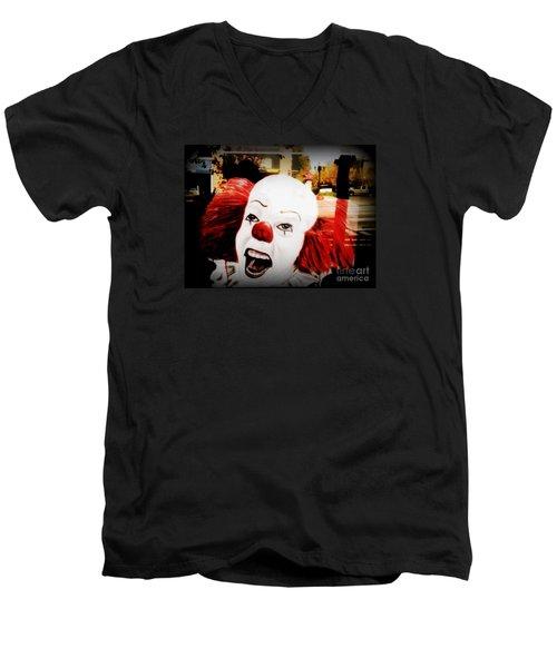 Killer Clowns On The Loose Men's V-Neck T-Shirt by Kelly Awad