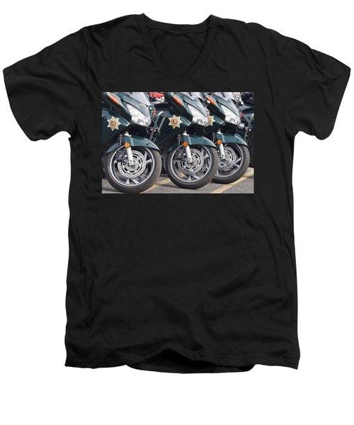 King County Police Motorcycle Men's V-Neck T-Shirt