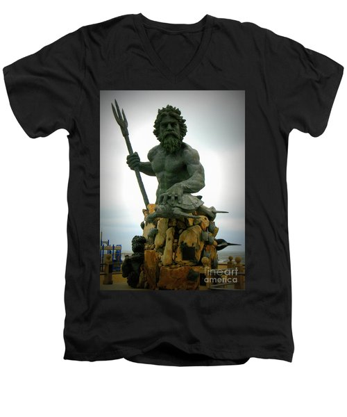 King Neptune Statue Men's V-Neck T-Shirt