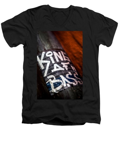 Men's V-Neck T-Shirt featuring the photograph King Of Bass by Sennie Pierson