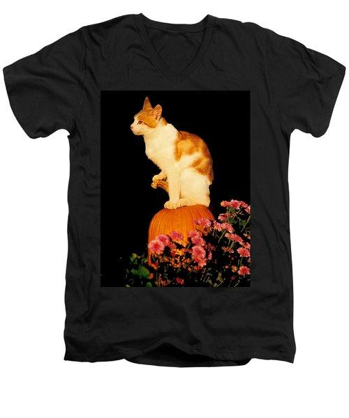 King Of The Pumpkin Men's V-Neck T-Shirt