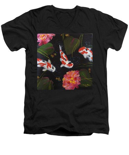 Kippycash Koi Men's V-Neck T-Shirt