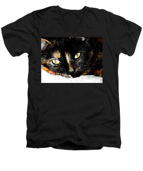 Kitty Face Men's V-Neck T-Shirt