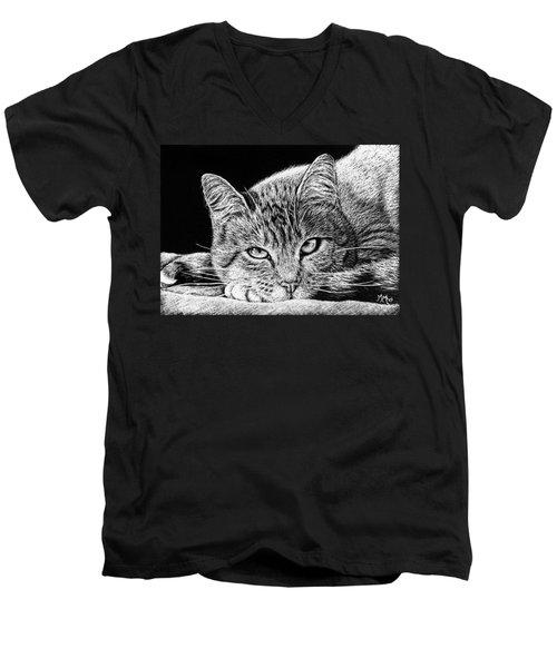 Kitty Men's V-Neck T-Shirt
