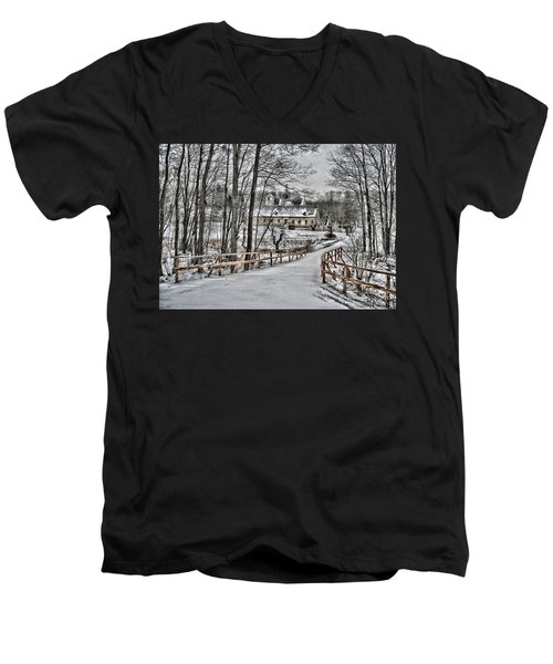 Men's V-Neck T-Shirt featuring the photograph Kloster St. Anna  by Gabriella Weninger - David