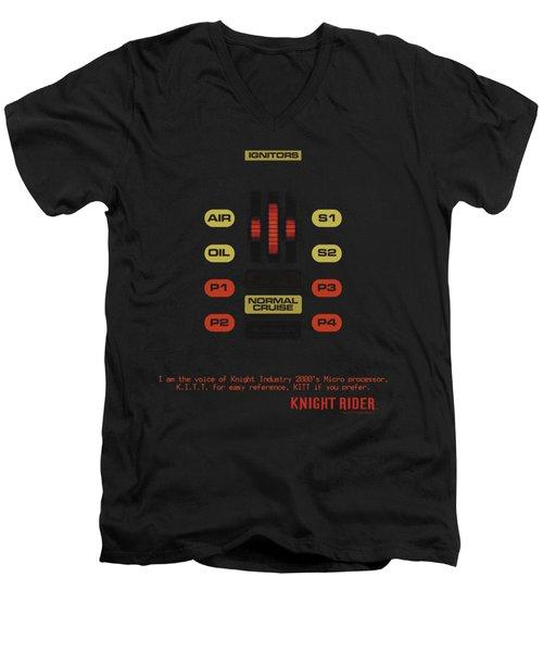 Knight Rider - Kitt Consol Men's V-Neck T-Shirt
