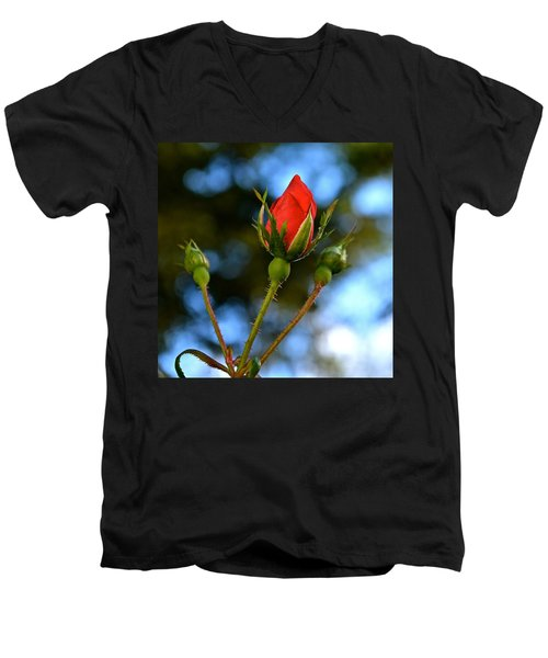 Knockout Rosebud Men's V-Neck T-Shirt