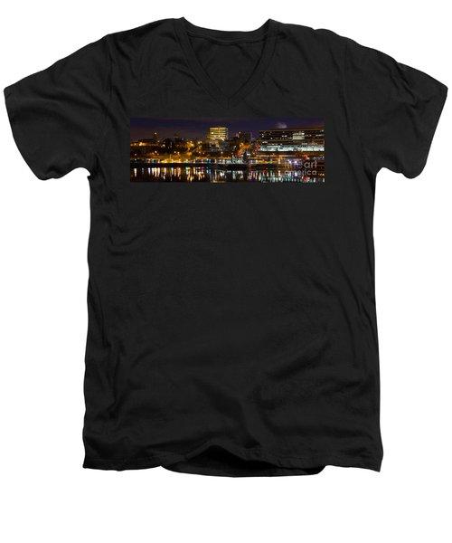 Knoxville Waterfront Men's V-Neck T-Shirt by Douglas Stucky