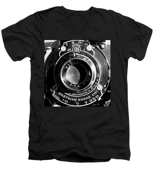 Kodak Brownie 2 Men's V-Neck T-Shirt
