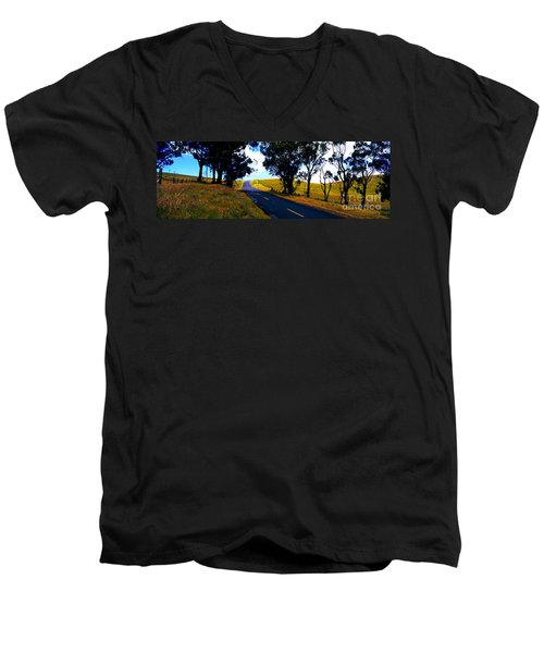 Kohala Mountain Road  Big Island Hawaii  Men's V-Neck T-Shirt