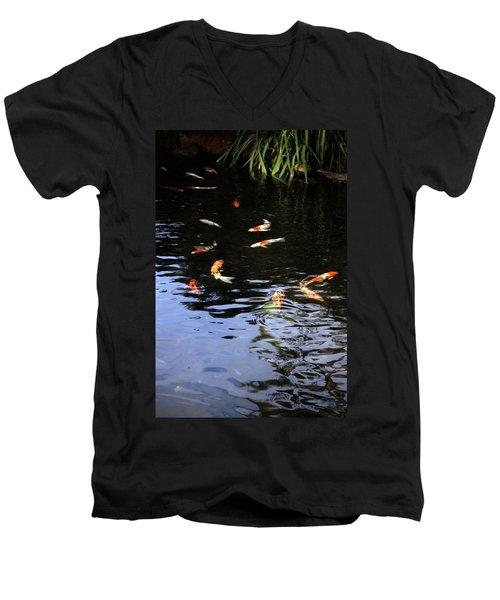 Koi Fish Men's V-Neck T-Shirt