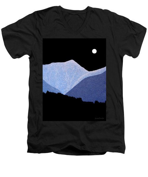 Men's V-Neck T-Shirt featuring the painting Kootenay Mountains by Janice Dunbar