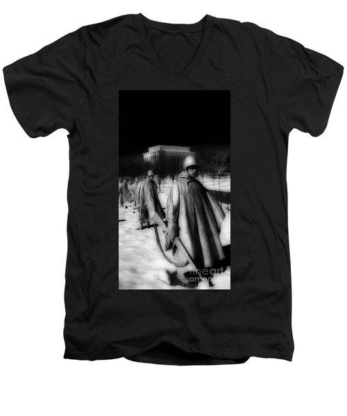 Korean Memorial Men's V-Neck T-Shirt by Skip Willits