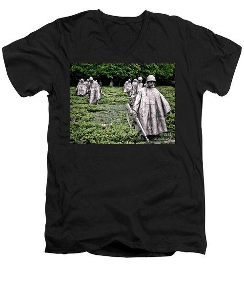 Korean War Veterans Memorial Men's V-Neck T-Shirt