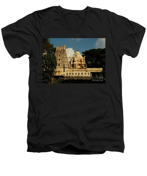 Kote Venkataramana Temple Men's V-Neck T-Shirt by Mini Arora