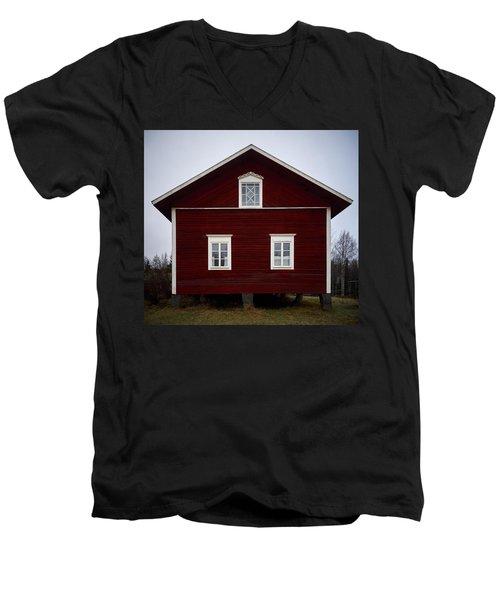Kovero Main House Men's V-Neck T-Shirt by Jouko Lehto
