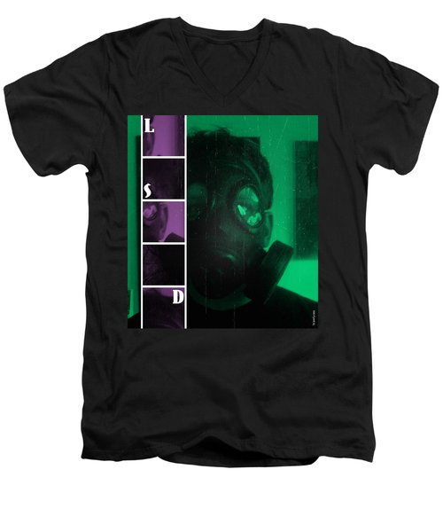 Men's V-Neck T-Shirt featuring the photograph L S D  Part Two by Sir Josef - Social Critic - ART