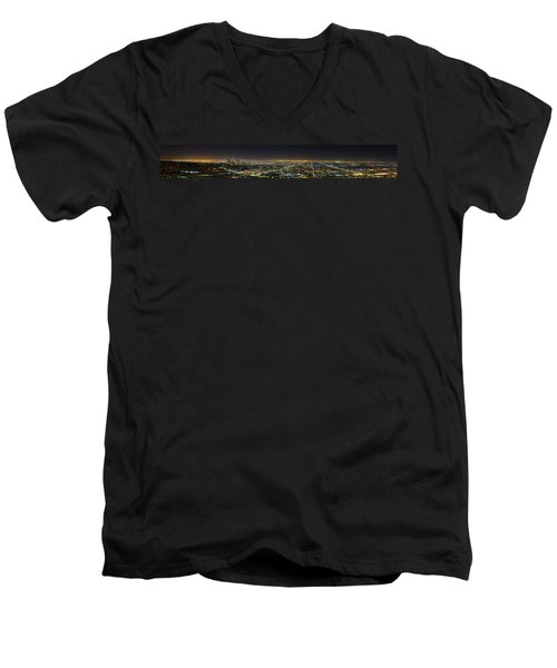 La At Night Men's V-Neck T-Shirt