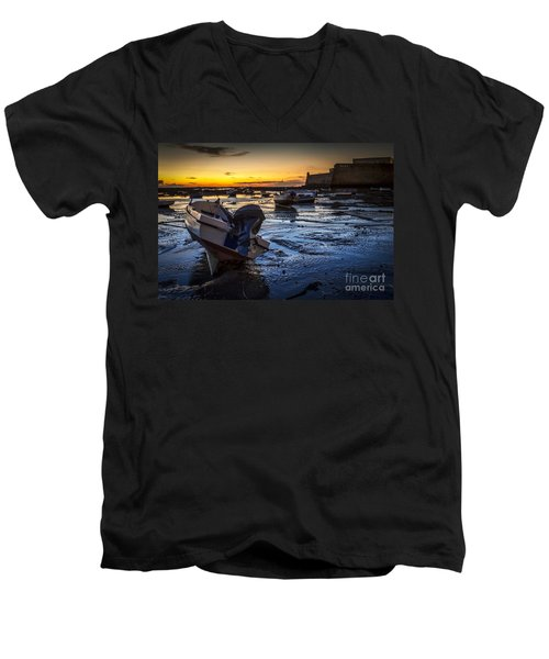 La Caleta Beach Cadiz Spain Men's V-Neck T-Shirt