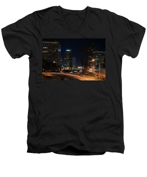 La Down Town 2 Men's V-Neck T-Shirt by Gandz Photography