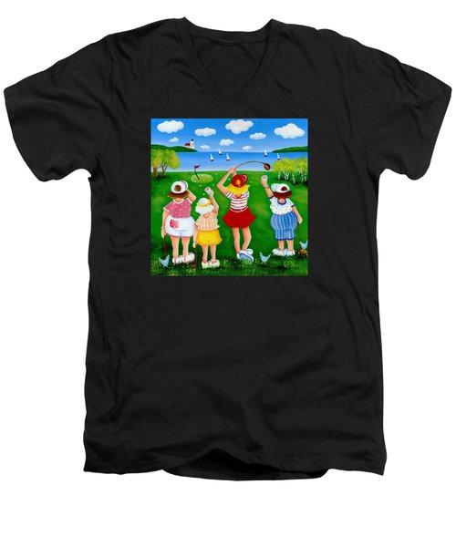 Ladies League Door County Men's V-Neck T-Shirt