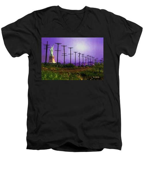 Lady Liberty Lost Men's V-Neck T-Shirt by RC deWinter