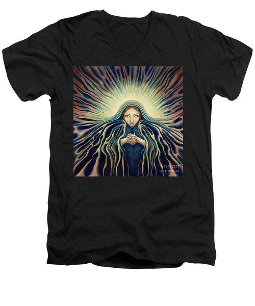 Lady Of Light Men's V-Neck T-Shirt
