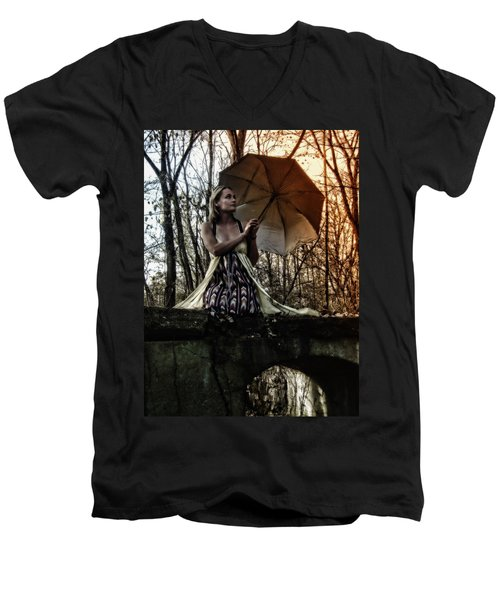Lady Rain Men's V-Neck T-Shirt