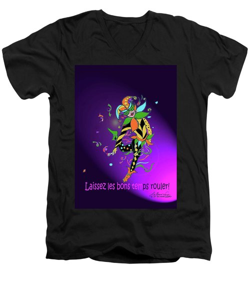 Laissez Les Bon Temps Rouler Men's V-Neck T-Shirt by Lizi Beard-Ward