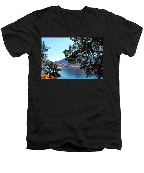 Lake Isabella Men's V-Neck T-Shirt by Matt Harang